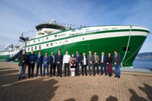 "Naming Ceremony stern trawler vessel ""Markus"" built at C.N.P.FREIRE, S.A (Freire shipyard)"